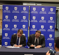 MoU signing with Qatar University.