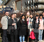 French and Chinese students at Bird in Hand winery