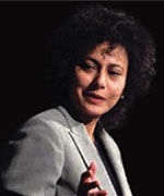 Irene Khan delivering the 2004 Annual Hawke Lecture
