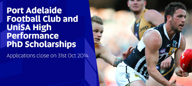 Port Adelaide Football Club and UniSA High Performance PhD Scholarship