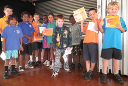 Children received awards for taking their omega 3 supplements, as part of the schools-based project