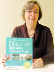 Issue1/Dietitian Jennifer Keogh with the CSIRO Diabetes Diet and Lifestyle Plan, one of the books she has contributed to.