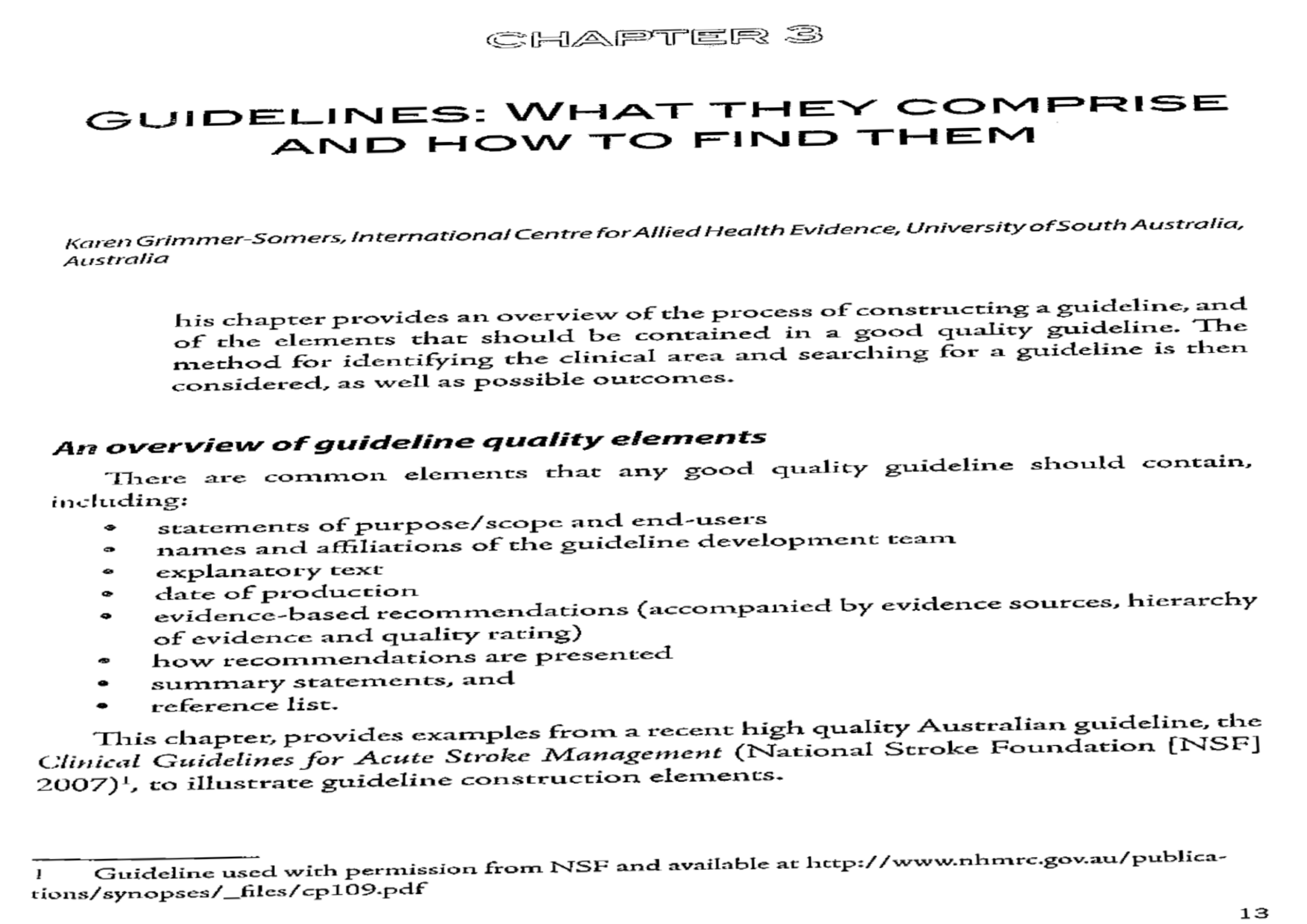 Practical Tips For Using And Developing Guidelines An