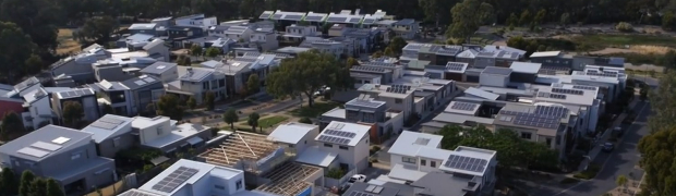 Lochiel Park residential estate solar panels