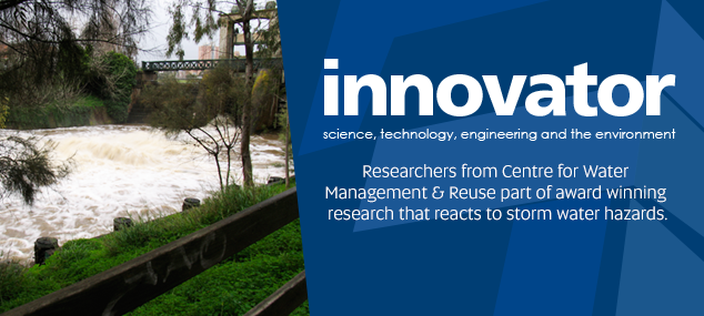 UniSA award winning research reacts to storm water hazards