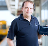 New iPad software keeps trains on time