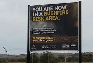 Bushfire Risk Sign