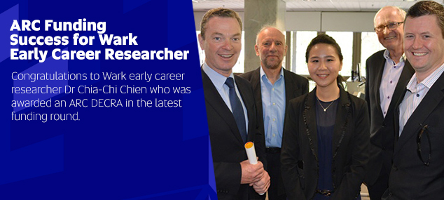 ARC Funding Success for Wark Early Career Researcher
