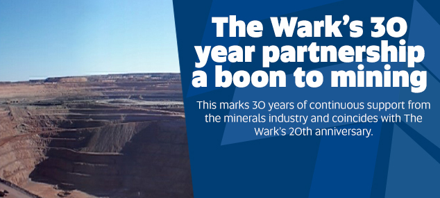 The Wark's 30 year partnership a boon to mining