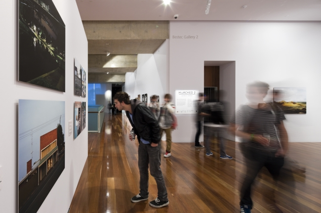Hijacked, 2009, exhibition opening, Samstag Museum of Art, University of South Australia