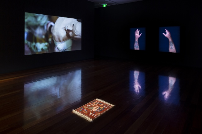 Shaun Gladwell: Field Recordings, 2014, installation detail, Samstag Museum of Art, University of South Australia.