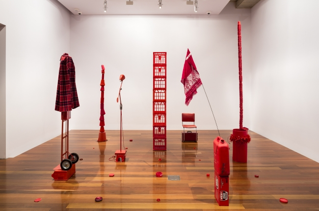 Alison Knowles, Homage to Each Red Thing, 1996 enacted by Louise Haselton for do it (adelaide), 2015, Anne & Gordon Samstag Museum of Art