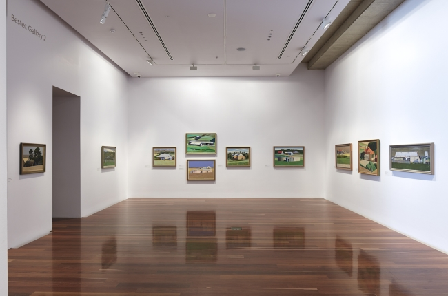 Geoff Wilson: Interrogated Landscape, 2015, installation detail, Anne & Gordon Samstag Museum of Art, University of South Australia.
