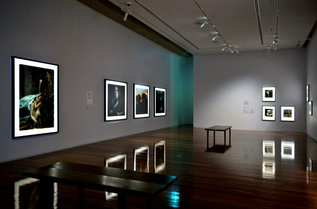 Bill Henson: early work from the MGA collection, with selected recent landscapes, 2011, installation detail