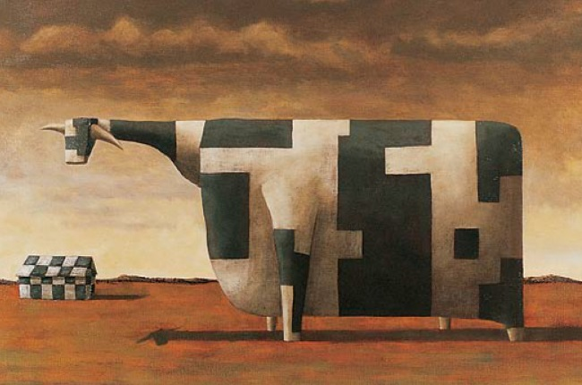 Kelly_John_Geometric_Cow_1995_Detail_Web