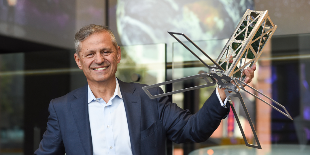 Bid Leader and SmartSat CEO designate, UniSA's Professor Andy Koronios, says the CRC will be a game changer for Australia's space economy. Photo by Catherine Leo