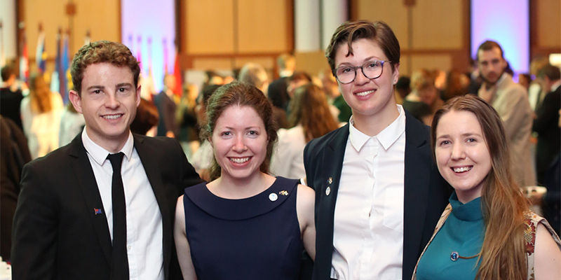 INSIDE UNISA UniSA students (L-R) Jesse Neill, Sophie Eldridge, and Sarah Short (pictured with Bianca Hoffrichter, UniSA's 2018 NCP scholarship winner) were awarded NCP 2020 scholarships.
