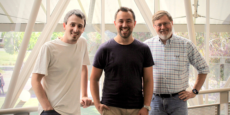 UniSA researchers Dr James Walsh, Dr Andrew Cunningham and Professor Bruce Thomas helped develop narrative visualisation technology which is now being taken to the commercial market by a spinout company.