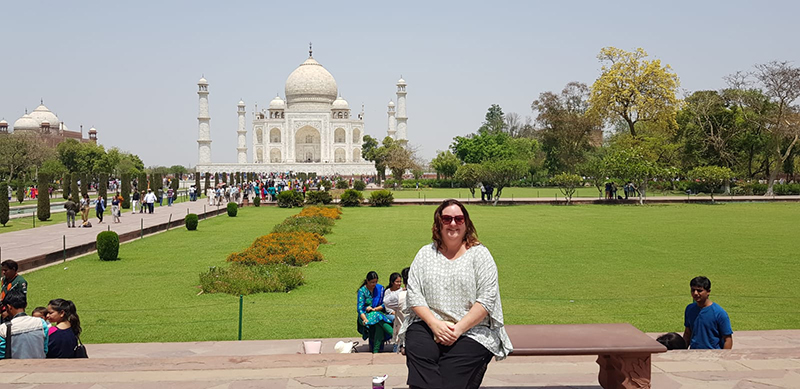 Kylie Hannant in India