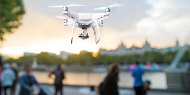 A hovering drone fitted with a computer vision system will be able to detect people with COVID-19.