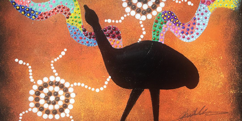 The Murray and the emu by Jesse Walker. The bond between father and daughter and the connection they have with the Murray River and the emu. Artwork featured in Verse Magazine.