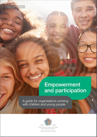 Front cover of the new guide Empowerment and participation: A guide for organisations working with children and young people.